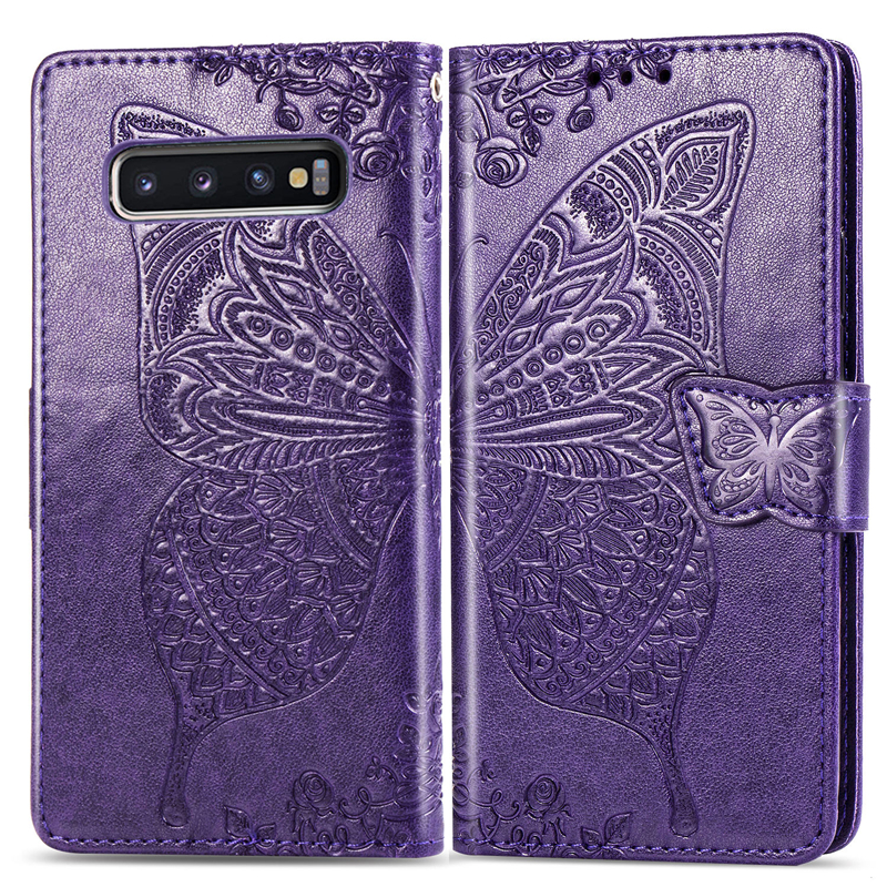 3D Butterfly Flip Case For Samsung Galaxy S10e J4 J6 S10 S9 S8 Plus S7 Edge A7 2018 J2 Core A10 A30 A40 A50 A70 M10 M20 Note9
