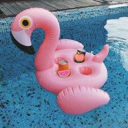 دلو للثلج فلامنغو كأس حامل سرير قابل للنفخ لحمامات السباحة طاولة مبردة الشراب صينية طعام ألعاب احتفالات Boia Piscina هل السباحة فراش