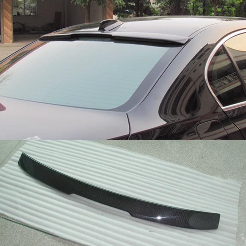 E60 AC Style fibre de carbone plastique non peint apprêt voiture Style aileron de toit arrière pour BMW E60 5 série 2004 2005 2006 2007 2008