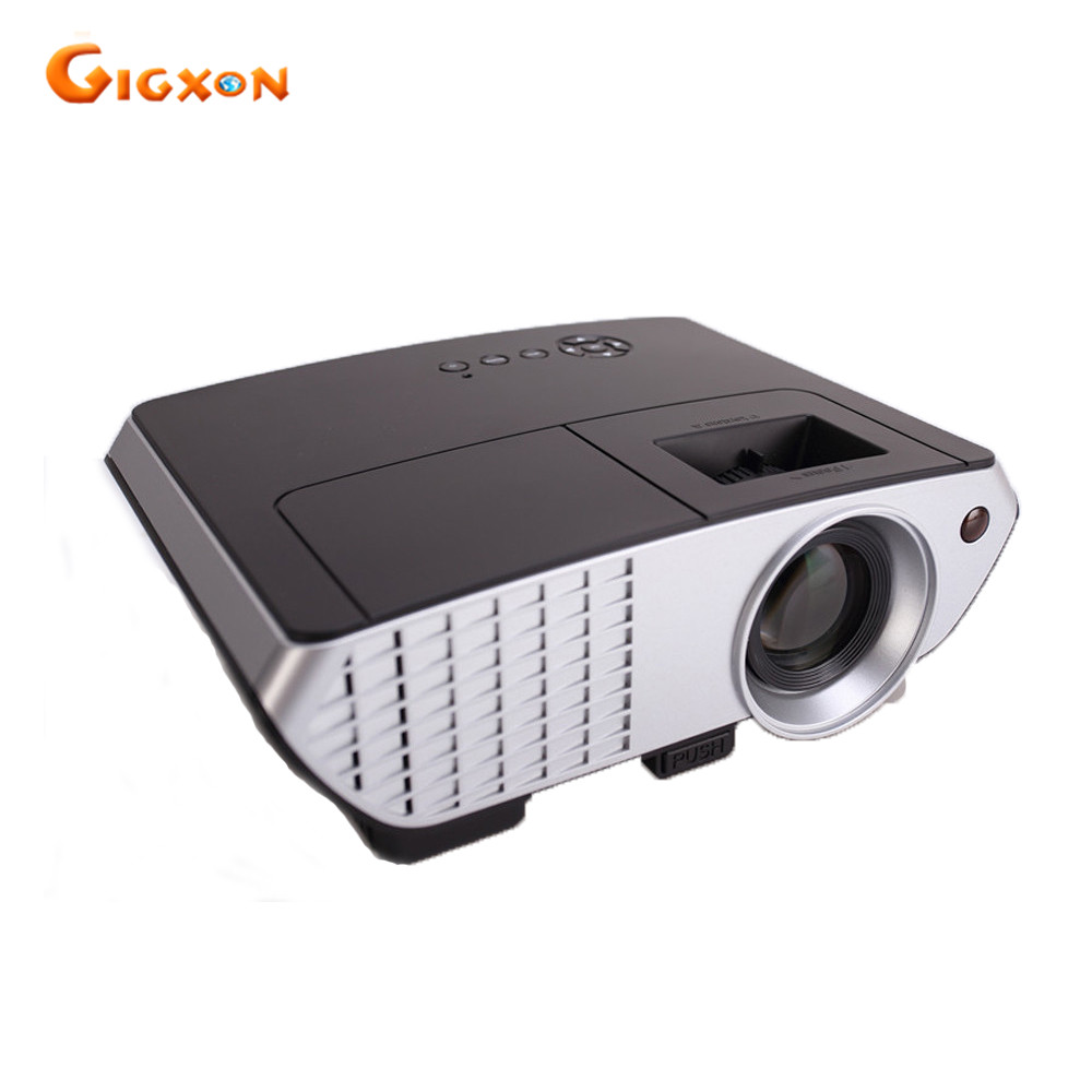 Gigxon G8003 2017 the newest home cinema projector 800 480P native resolution 2000lumens HD projector 1080p