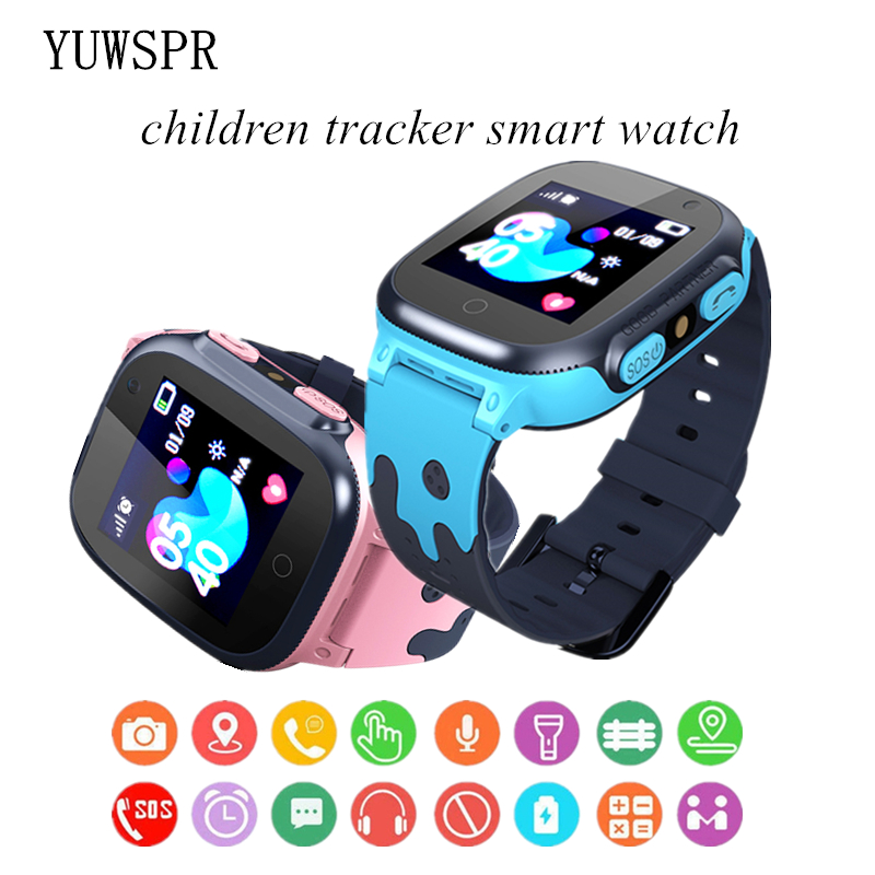 New Children Tracker Watch LBS Multifunction Digital Wristwatch Camera Waterproof IOS Android Kids Gift Q15