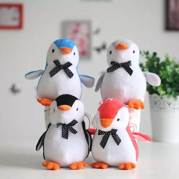 1pc 20cm Lovely Penguin with Bow-tie Plush Toys Staffed Cute Animal Plush Dolls Kids Toy Creative Birthday Gift