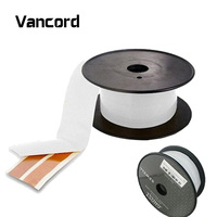Vancord 15M Spool Super OFC CU Flat Adhesive Speaker Cable Wire Indoor Outdoor Ghost Speaker Wire