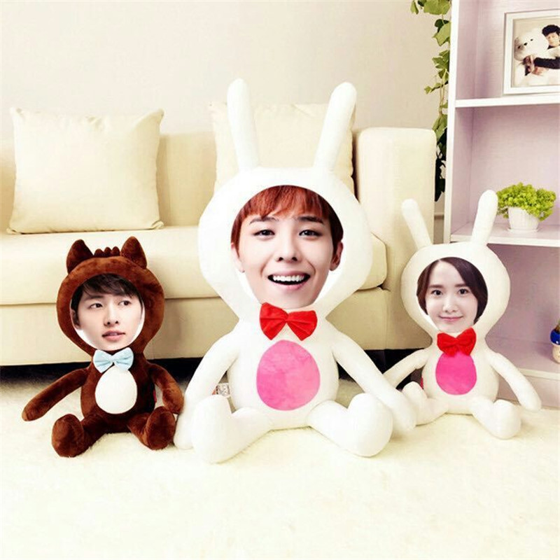 New Hot Photo customization Rabbit Plush Toys Dolls Stuffed Animal Pillow Sofa Car Decorative Creative Birthday Gift Valentines