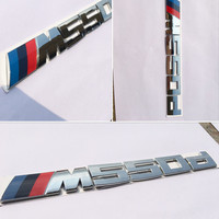 3D ABS Car Styling Power M Performance 520d 525d 528d 530d 535d 550d Car Rear Sticker