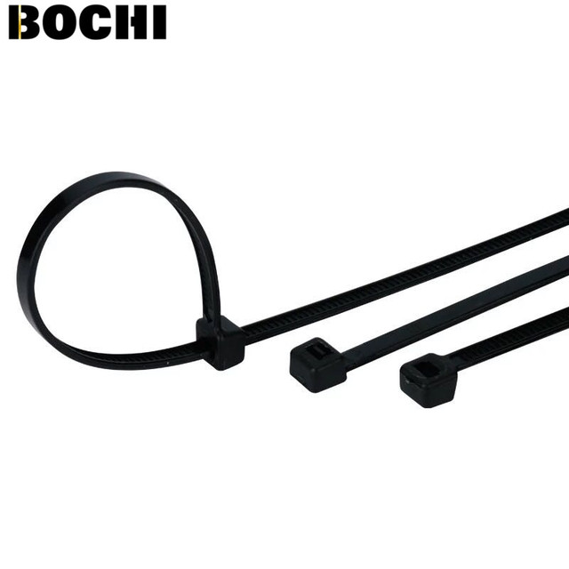Free Shipping 100Pcs Width2.8mm4*300mm Self Locking White BlACK Acidproof  Nylon Wire