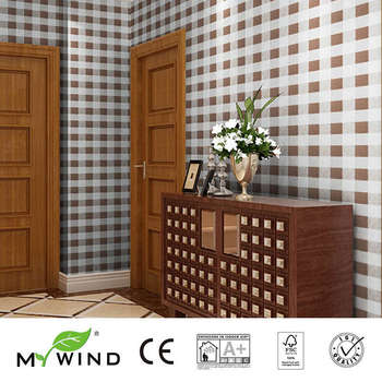 2019 MY WIND lively lattice Luxury Wallpaper Paper weave grasscloth 3D wallpapers designs european vintage wall papers