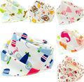 5pc/lot Baby Bibs  100% Cotton Triangle Head Scarf Boy Kerchief Girl Babador Bandana Dribble Bib