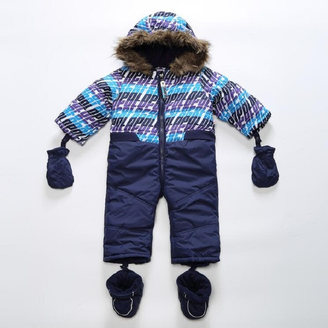 Brand,Warm,Winter Baby Clothing Romper 3 Pcs Set,Newborn,Baby Boy clothes, Baby Windproof Waterproof Suit,Baby Outerwear