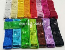 FZ0011 5 Rows width 25MM Sequins Ribbons Lace for sexy clothes Decoration 15 Yards Apparel accessories