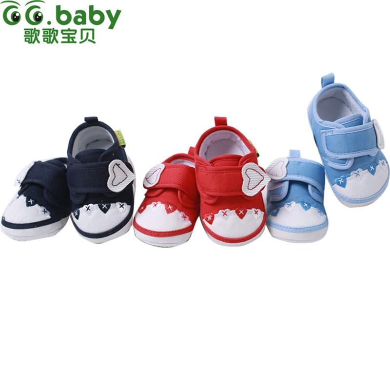Zapatos de niña Recién Nacido Primeros Caminante Tela de Algodón Del Otoño Del R
