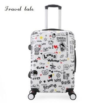 673836aba Maleta de viaje con diseño de dibujos animados de 20/24 pulgadas con ruedas  para equipaje, Maleta de viaje de marca, adecuada para equipaje de niños