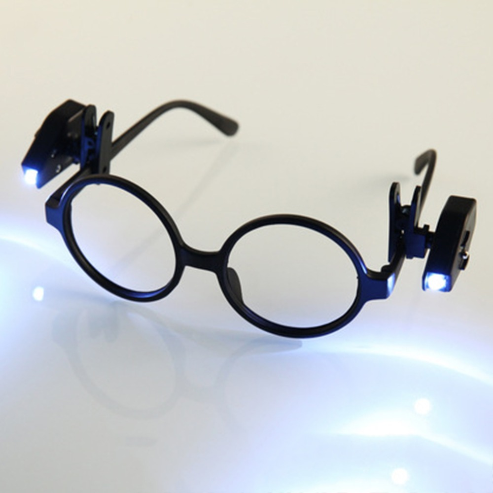 Glasses Reading Lamp Adjustable Eyeglass Clip Lantern Adjustable Universal Eyeglasses Lamp Flexible Book Reading Lights
