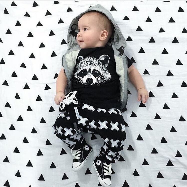 3c6b0b712e74 2018 New baby clothing set unisex Cotton short sleeved Fox T shirt+Pants  2pcs Outfits Set Newborn baby boy girl clothes set-in Clothing Sets from  Mother ...
