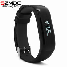 P1 SmartBand Часы Приборы для измерения артериального давления Bluetooth Smart Браслет сердечного ритма Мониторы смарт-браслет Фитнес для Android IOS Телефон
