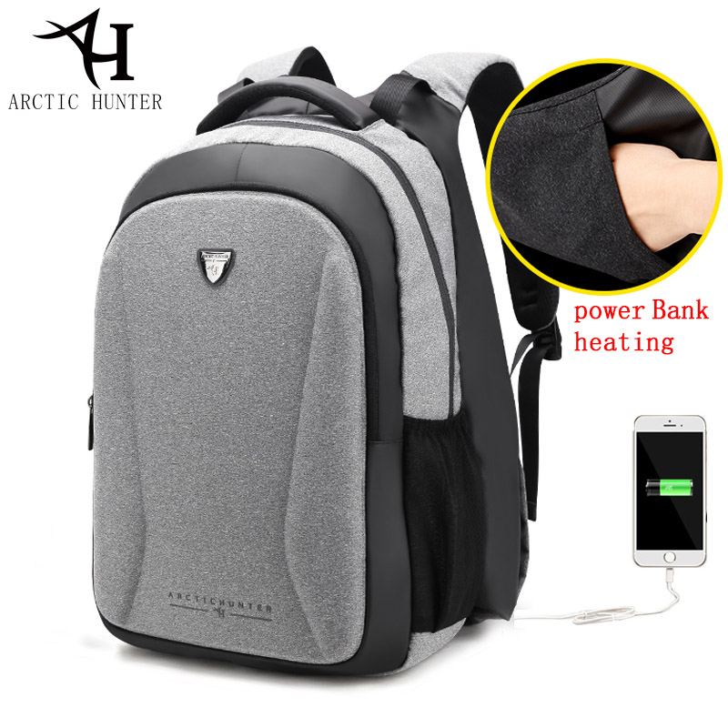 Arctique HUNTER main sac à dos chaud femmes sac à dos pour ordinateur portable hommes mode décontracté USB sac à dos Anti-vol sacs d'école pour adolescent