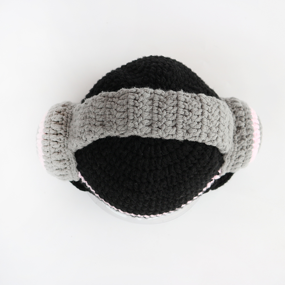 f940ebb5a US $26.24 18% OFF|BooLawDee Women manual crochet skull hat novelty  character headset like Winter thermal cap nice gift for party free size  M006-in ...