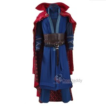 CosDaddy Doctor Strange Cosplay costume Steve Strange Outfit Unif Blue Heavy Robe dan Red Cloak Halloween