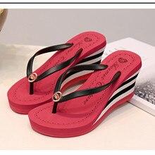2017 new summer season style ladies's put on non slip muffin seashore sandals ZXW0702