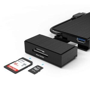 Image 4 - מלא HD הכפול 2K קומבו מיני עגינה תחנת USB 3.0 רכזת SD כרטיס קורא Gigabit Ethernet רכזת רב תצוגת HDMI/VGA עבור Mac חלון