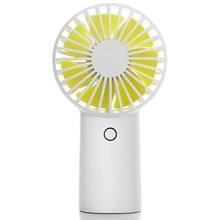 4000Mah Rechargeable Usb Handheld Mini Fan Silent Air Cooler Portable Desk Fans For Home White