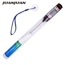 Цифровой термометр для барбекю, мини ручка с ЖК дисплеем и коробкой для приготовления пищи и мяса, 10 шт./лот/набор