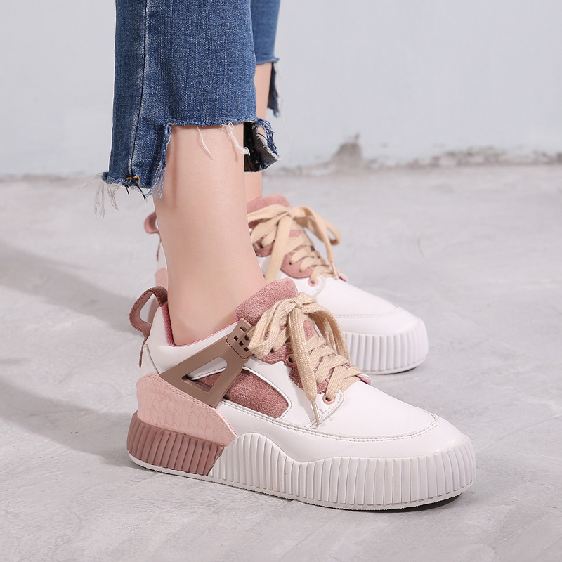 Jookrrix 2018 Spring New Fashion Brand Lady Casual Vulcanized Shoes Women Shoes Girl Leisure Sneaker Breathable Soft Cross Strap