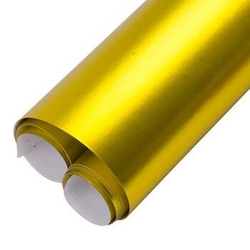 152cmx1000cm Gold Creative Satin Matte Chrome Vinyl Wrap Air Release Grade Film Wrap Sticker Sheet Air Release Sunice