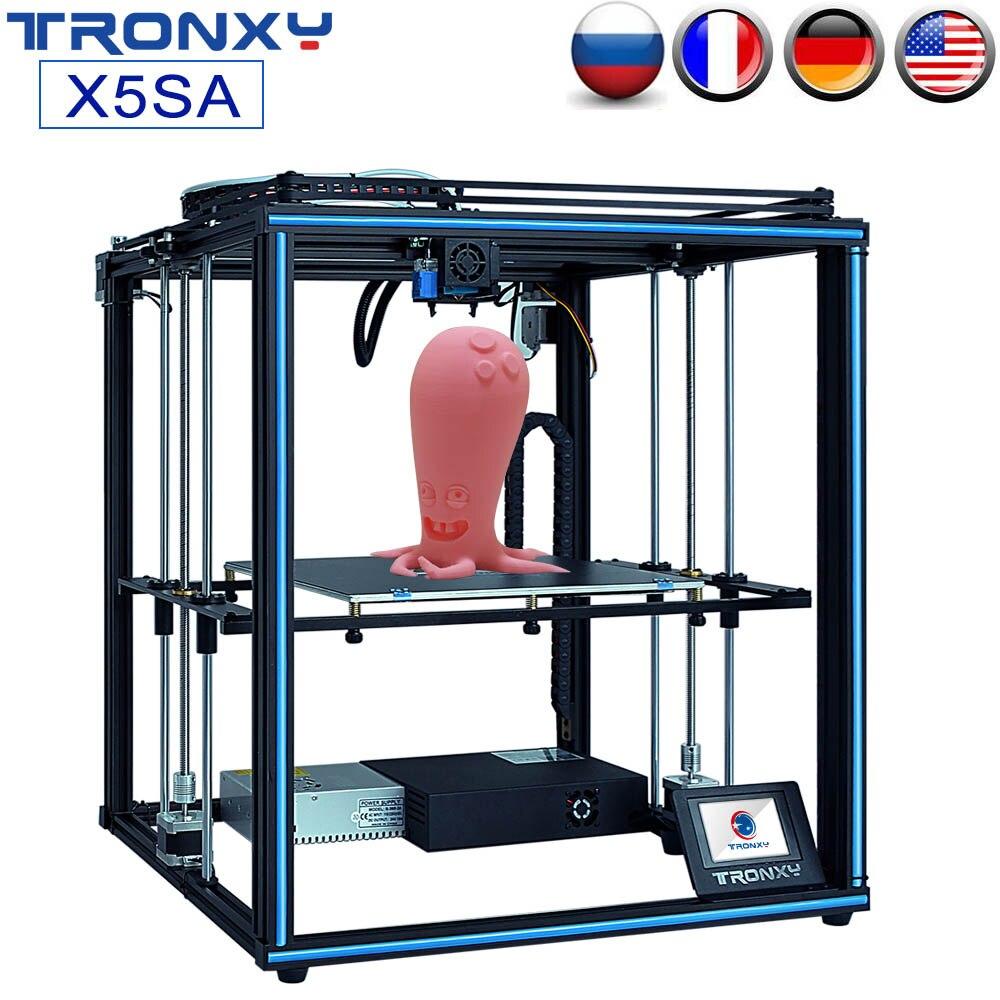 TRONXY Atualizado X5SA X5SA-400 DIY Kit Impressora 3D 24V Sensor de Nível Auto Máquina FDM 3d Filamento de Alta-precisão moldura de alumínio