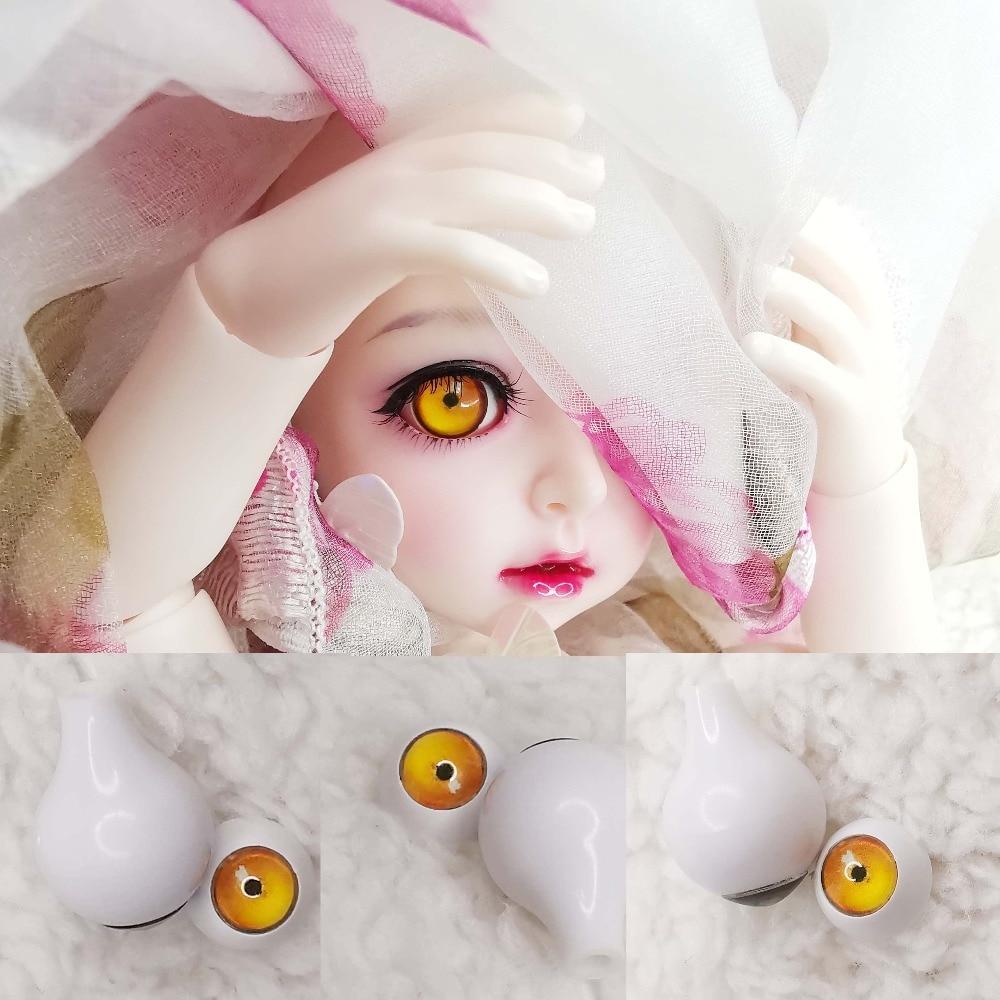 10mm Hand Made BJD Doll Eyes Pearlized Purple Acrylic Half Ball