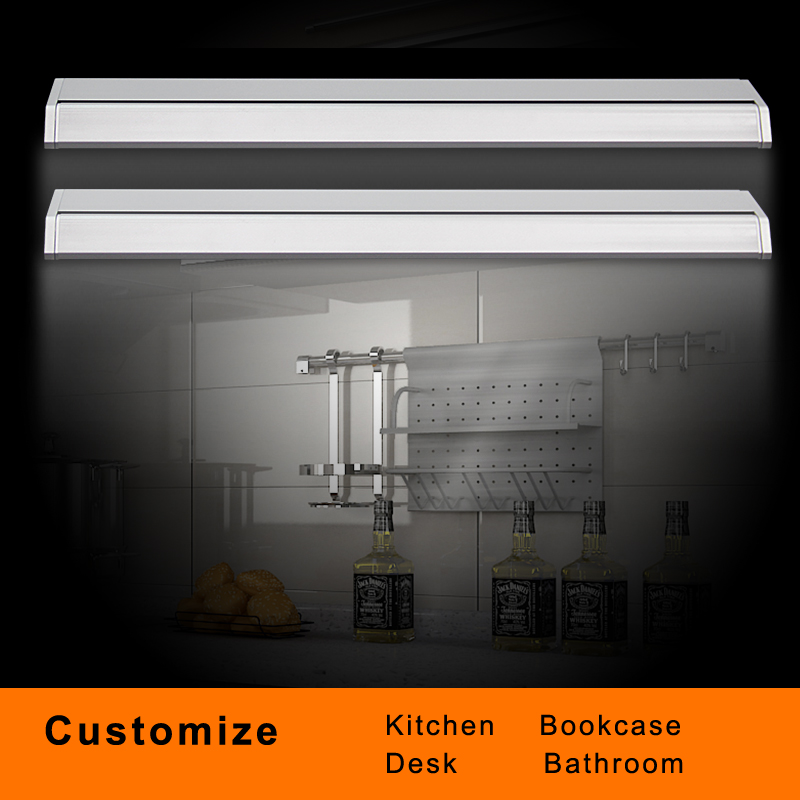 High Luminous Brightness LED Cabinet Bar Strip Light AC110 220V Switch Button Bathroom Bookcase Cabinet Kitchen Multi Purpose in LED Strips from Lights Lighting