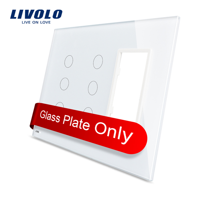 Aliexpress.com : Buy Livolo US standard White Pearl Crystal Glass ...