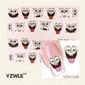 YZWLE 1 Sheet 3D Design Cute DIY Cartoon Nail Tips Water Transfer Nail Stickers, Watermark Nail Decals Manicure Tools