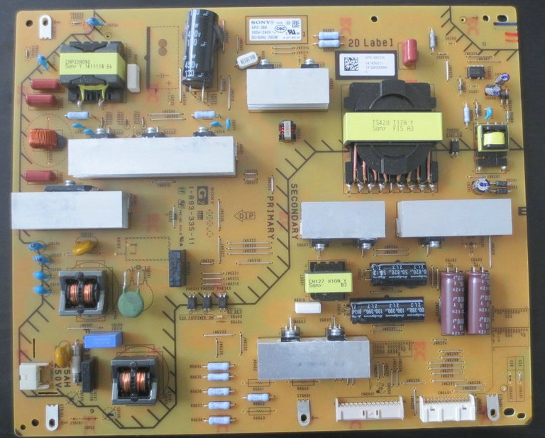 KDL-65W950B power panel APS-366 1-893-335-11 is used good working original used for power supply board aps 261 1 881 893 11 kdl 46hx800