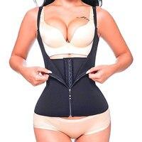 SCECENT Women Vest Corset Adjustable Shoulder Strap Waist Trainer Zipper Hook Tummy Control Slimming Waist Cincher