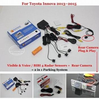For Toyota Innova 2013 2014 2015 Car Parking Sensor Sensors Auto Alarm System highquality Rearview Reverse Camera