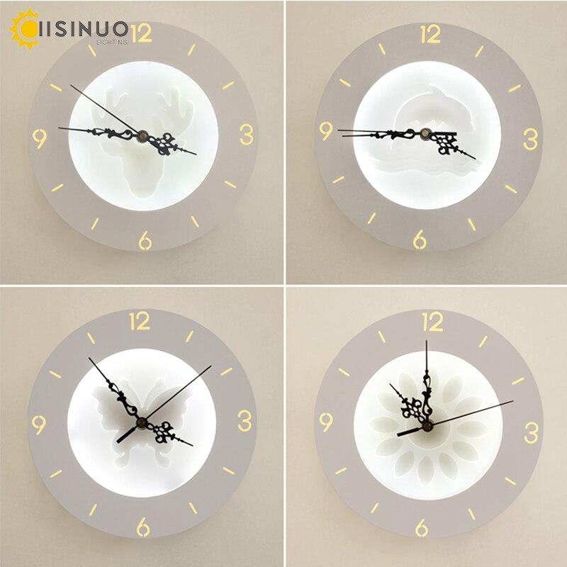 Wonderful LED Wandleuchten Uhr Für Wohnzimmer Schlafzimmer 20 Watt Wand Wandleuchte Weiße  Farbe Vier Muster AC85 265V LED Wandleuchte Innen Beleuchtung