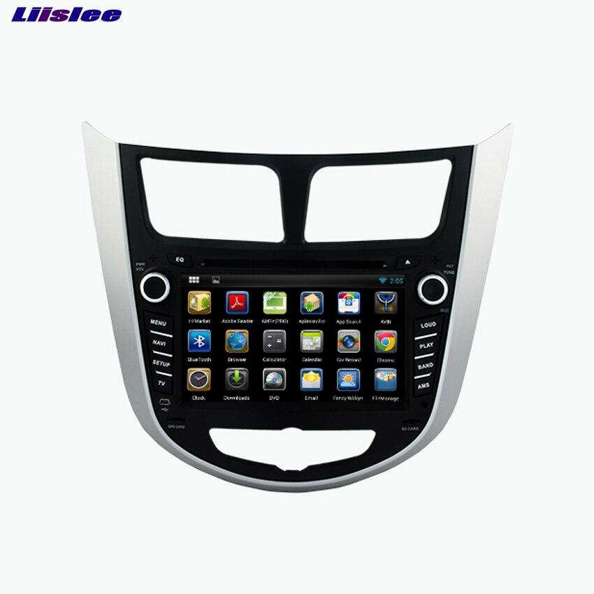 Liislee для Hyundai Accent 2011 ~ 2012 dvd-плеер автомобиля мультимедиа аудио-видео Радио GPS навигации Multi-Сенсорный экран Bluetooth