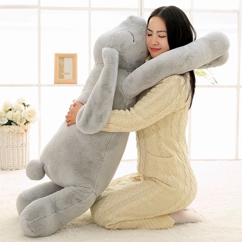 Soft Long Arm Rabbit Plush Toy Stuffed Animal Pillow Plush Rabbit Doll Korean Pillow Baby Soothe Toy Sofa Cushion Girl Gift