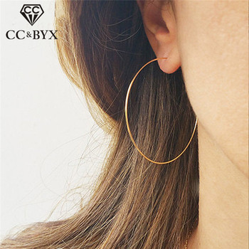 CC Pure Silver Hoop Earrings For Women