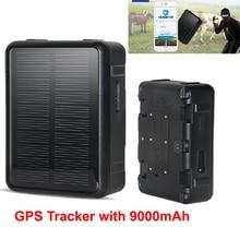 2018 Energia Solar WiFi GPS Rastreador Magnético Forte Pet GPS Tracker Locator para Ovelhas Vaca Gado Cavalo Carro Veículo Longo standby