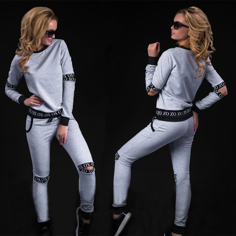 2 piece set women suit for fitness outfit two piece crop top legging set hoodie hooded