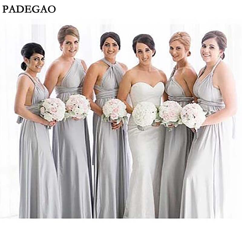 Elegant Long   Bridesmaids     Dresses   Sleeveless Customized Chiffon Mismatched   Bridesmaids     Dresses   Prom Custom Made