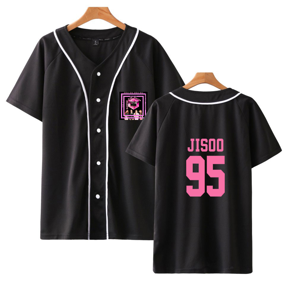 T-shirts Luckyfridayf 2018 Fashion Blackpink Popular Member Jisoo New Style Print In Summer Baseball T-shirt Spring Women/men Coats Preventing Hairs From Graying And Helpful To Retain Complexion Tops & Tees