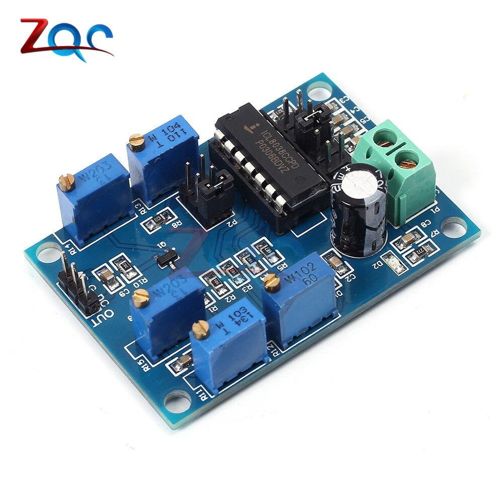 ICL8038 Signal Generator Medium/Low Frequency 10Hz-450KHz Triangular/Rectangular/Sine Wave Generator Module 12V to 15V 10hz 1mhz low frequency function signal audio generator producer rek rag101