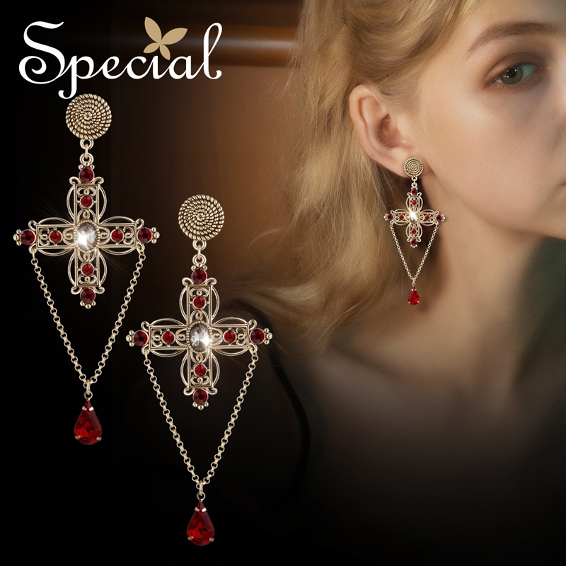 SPECIAL western Special S925 silver ear stud earrings style princess of Morocco S2225E
