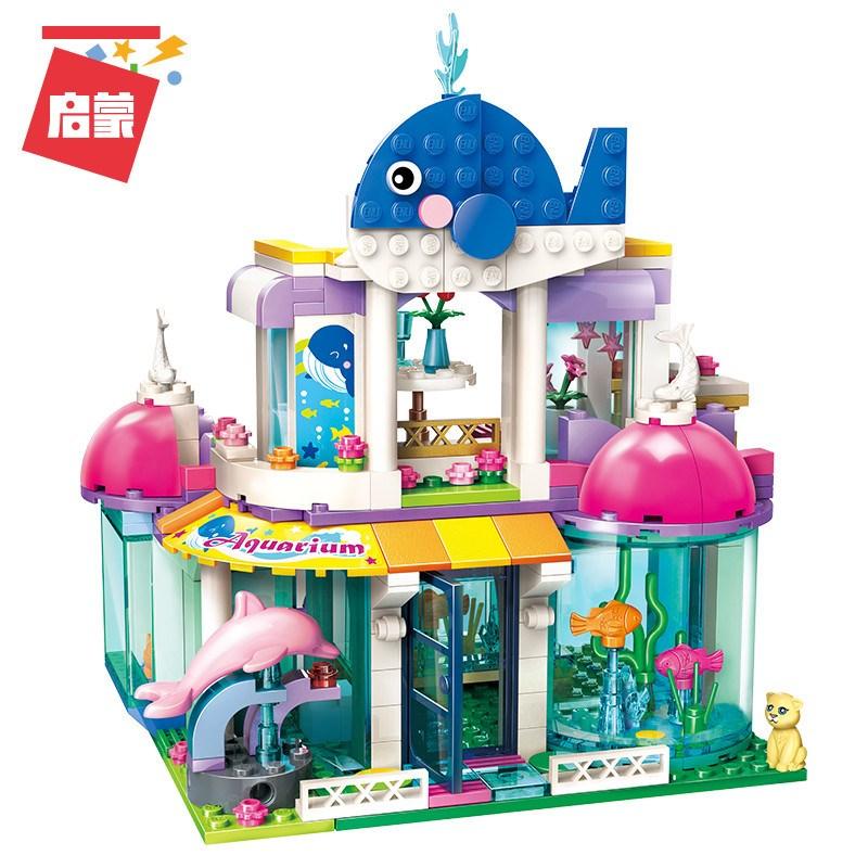 2012 City Girls Princess Blue Whale Aquarium Building Blocks Sets Bricks Model Kids Classic Compatible Legoings Friends