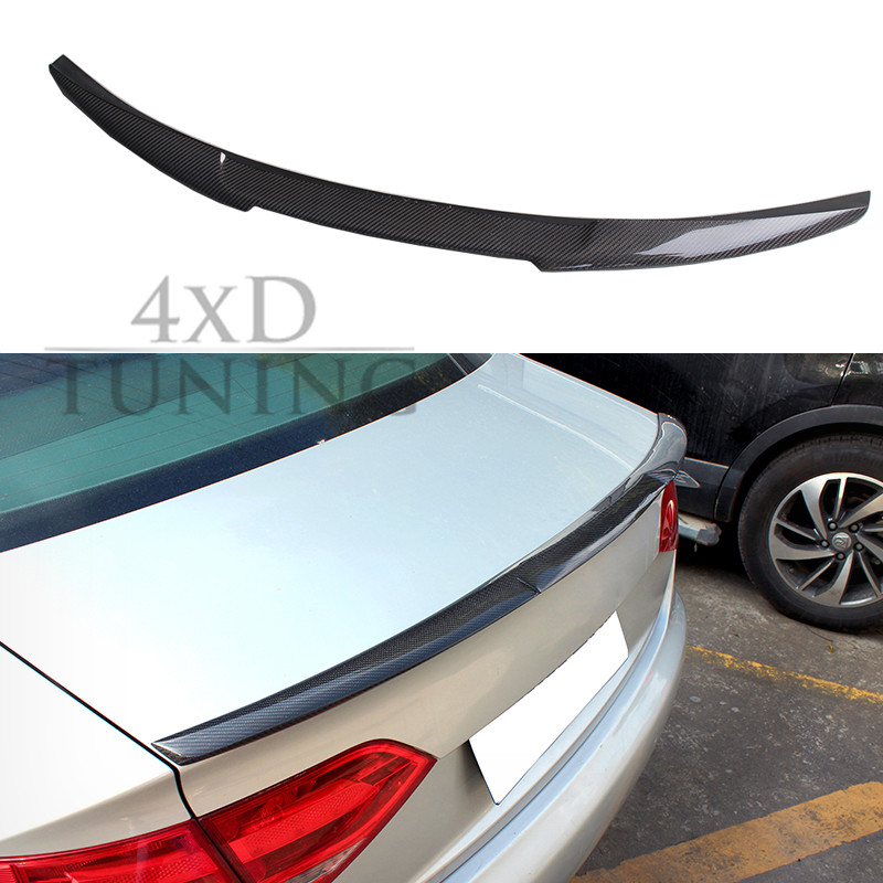 For Audi A4 B8 Carbon Rear Spolier M4 Style Carbon Fiber Rear Spoiler Rear Trunk Wing For Audi A4 B8 Spoiler 2009 2010 2011 2012 e60 carbon fiber rear trunk boot wing lip spoiler for bmw 5series m5 style 05 11