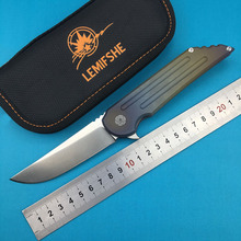LEMIFSHE Custom 1025 folding knife s35vn steel TC4 titanium alloy handle outdoor camping hunting pocket kitchen fruit knife EDC цена 2017