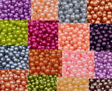 AZZ00362  Free Shipping 4mm 300pcs 18 color, ABS Imitation Pearls Beads, Resin Scrapbook Beads For DIY Decoration
